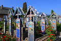 Merry cemetery beautiful in sapanta maramures romania Stock Photo