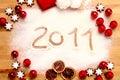 Merry Christmas 2011 Stock Image