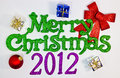 Merry Christmas 2012 Royalty Free Stock Photography