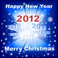 Merry Christmas 2012 blue background Stock Photography