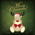 Merry christmas abstract cute deer on special background Royalty Free Stock Photo