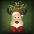 Merry christmas abstract cute deer on special background Royalty Free Stock Images