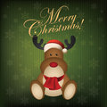 Merry christmas abstract cute deer on special background Stock Image
