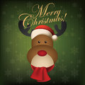 Merry christmas abstract cute deer on special background Stock Photos