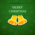Merry christmas background with bell. Royalty Free Stock Photo