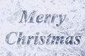 Merry christmas background blue icy Stock Images