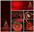 Merry christmas background collections gold and red Royalty Free Stock Image