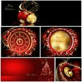 Merry christmas background collections gold and red Royalty Free Stock Photos