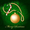 Merry christmas background with decorated christmas tree vector Stock Photos