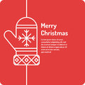 Merry Christmas background in linear minimalistic style.