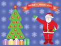 Merry christmas background with santa claus Stock Image