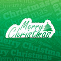 Merry christmas background sticker on a typography a lot of space for your text Royalty Free Stock Photo