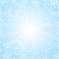 Merry christmas background with sun snowflakes for winter sale or winter holiday Royalty Free Stock Image