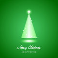 Merry christmas background with tree illustration Stock Photo