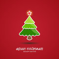 Merry christmas background with tree illustration Stock Photos
