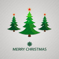 Merry christmas background with tree illustration Stock Image