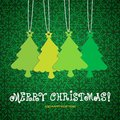 Merry christmas background with tree illustration Royalty Free Stock Images