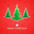 Merry christmas background with tree illustration Royalty Free Stock Photos
