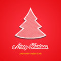 Merry christmas background with tree illustration Royalty Free Stock Photography