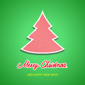 Merry christmas background with tree illustration Stock Images