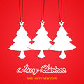 Merry christmas background with tree illustration Royalty Free Stock Image