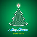 Merry christmas background with tree illustration Stock Photography