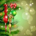 Merry Christmas background whit balls Royalty Free Stock Photos