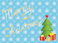 Merry christmas background with xmas tree and presents Royalty Free Stock Photos