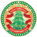 Merry Christmas badge Royalty Free Stock Images