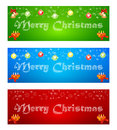 Merry christmas banner on different backgrounds with elements of illustration greeting inscription colored Royalty Free Stock Photos