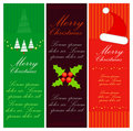 Merry christmas banner set Stock Photo