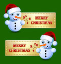 Merry Christmas banners Stock Photo