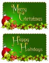 Merry Christmas Banners Royalty Free Stock Photo