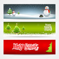 Merry Christmas banners set design Stock Photography
