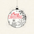 Merry christmas bauble background vector illustration Royalty Free Stock Photography