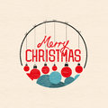 Merry christmas baubles vector illustration Stock Photo