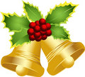 Merry Christmas bells Royalty Free Stock Photos