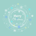 Merry christmas on the blue background Stock Photography