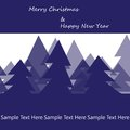 Merry christmas blue background winter new year fir tree Stock Images