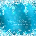 Merry christmas blue card sample Stock Photo
