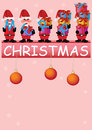 Merry Christmas Busy Santa Claus with Gifts_eps Stock Photography