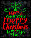 Merry Christmas calligraphic lettering. New Year background Royalty Free Stock Photo