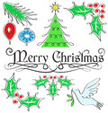 Merry Christmas Calligraphy Set/eps Stock Photography