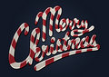 Merry christmas candy cane Stock Images