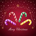 Merry christmas, candy cane Royalty Free Stock Photo
