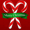 Merry Christmas Candy Canes Royalty Free Stock Photo
