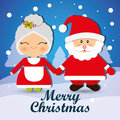 Merry christmas card design with lovely cartoons graphic vector illustration Stock Images