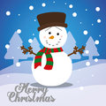 Merry christmas card design with lovely cartoons graphic vector illustration Stock Photos