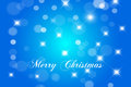 Merry christmas card and happy new year card blue with stars Stock Image