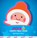 Merry christmas card santa claus new year badge icon symbol Stock Images